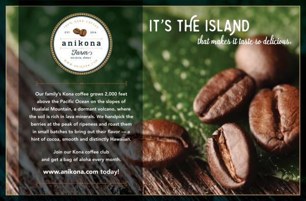 fantastic ad for kona coffee