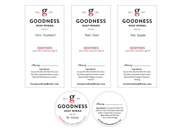 Goodness Soap Labels