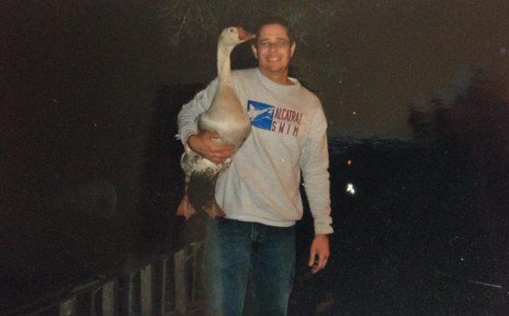 William and his goose.